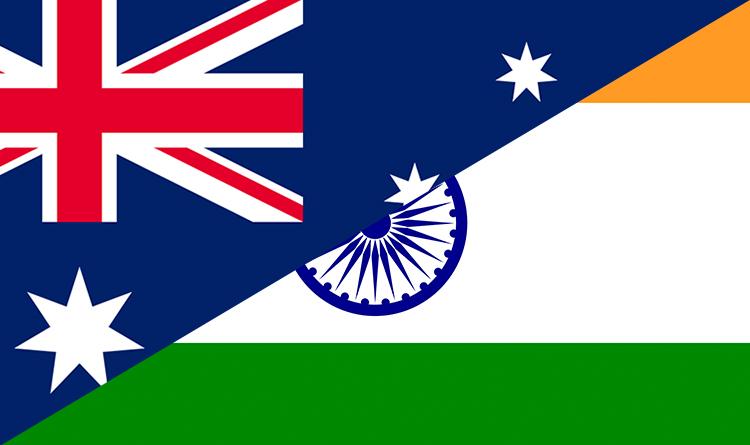 India & Australia Flag
