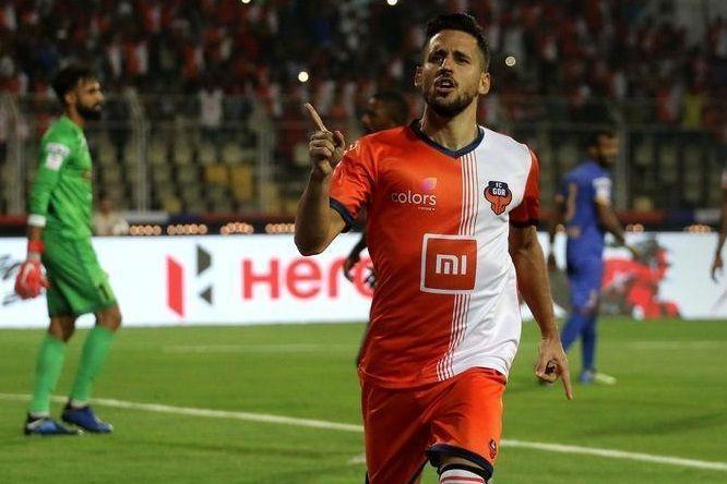 Coro's goal celebration against Mumbai City FC