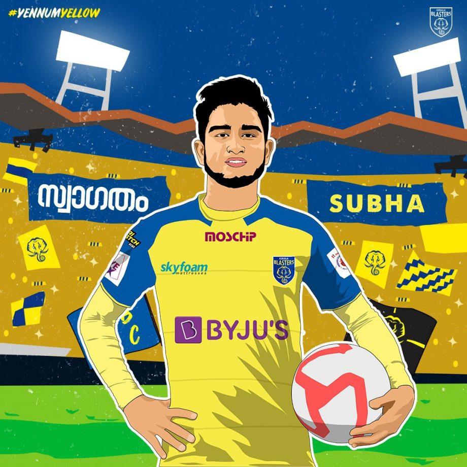 Subha Ghosh joins Kerala Blasters FC (Image Credit: @KeralaBlasters/Twitter)