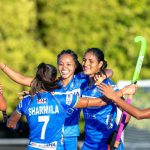 Players of India's women's national hockey team