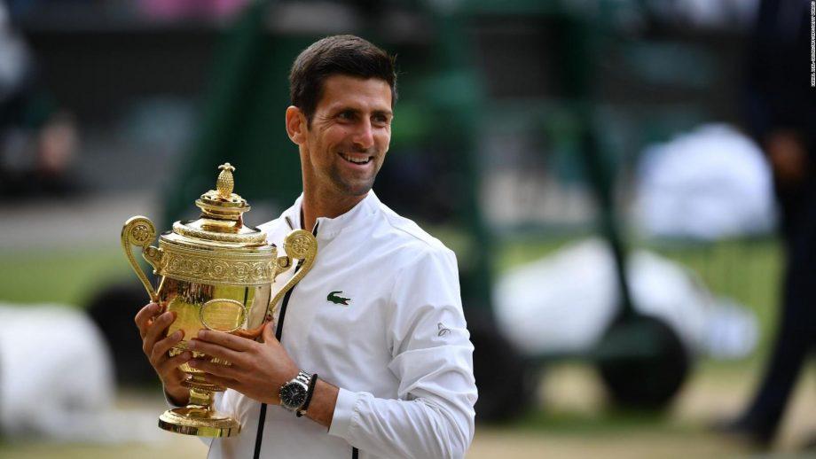 Professional tennis specialist Novak Djokovic