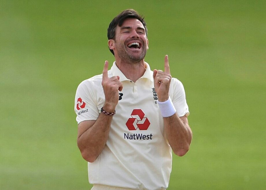 The 38-year-old England pacer James Anderson