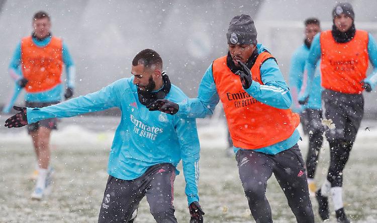 Karim Benzema and Eder Militao