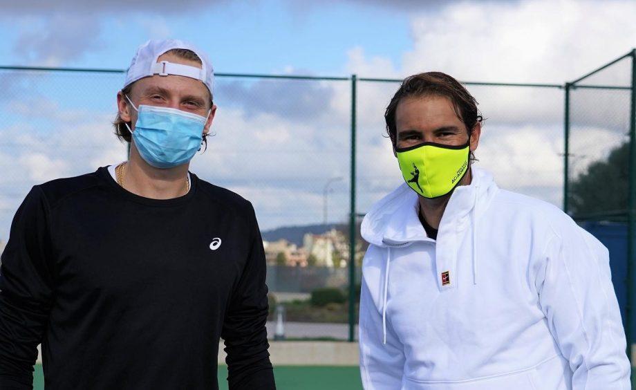 Rafa Nadal on tennis courts