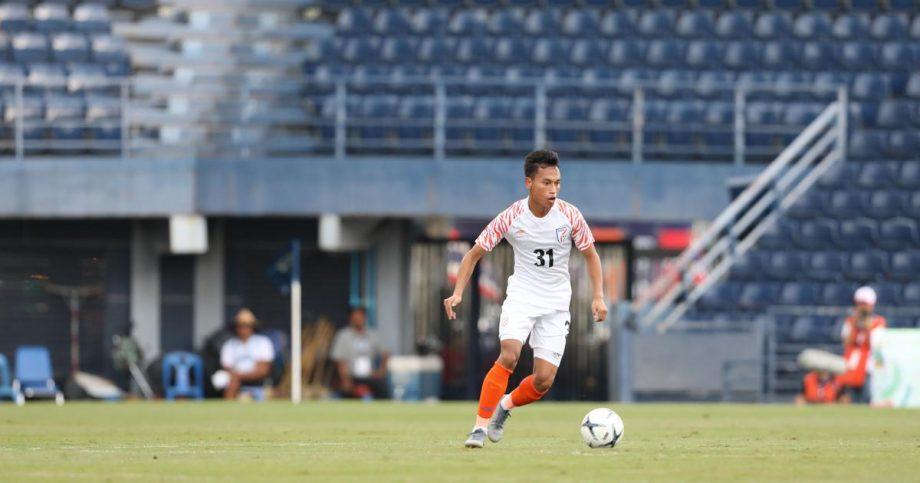 Amarjit Singh representing the India U-17 team