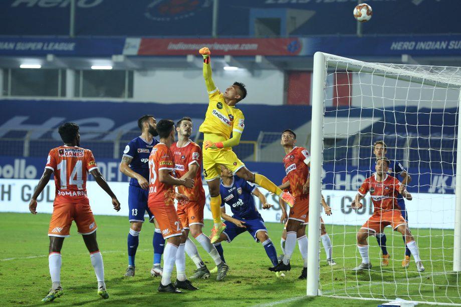 FC Goa with Chennaiyin FC