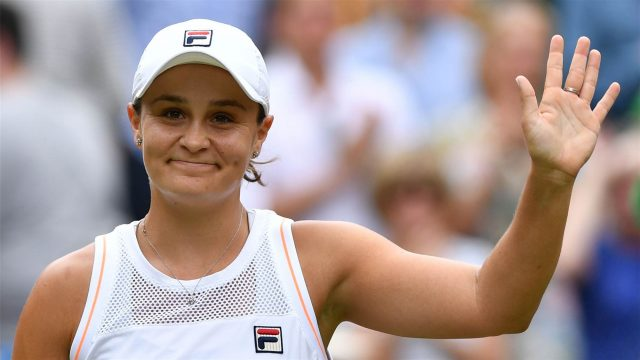 Ashleigh Barty smiles