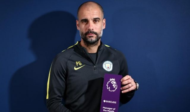 Pep Guardiola was named The Best Manager of January