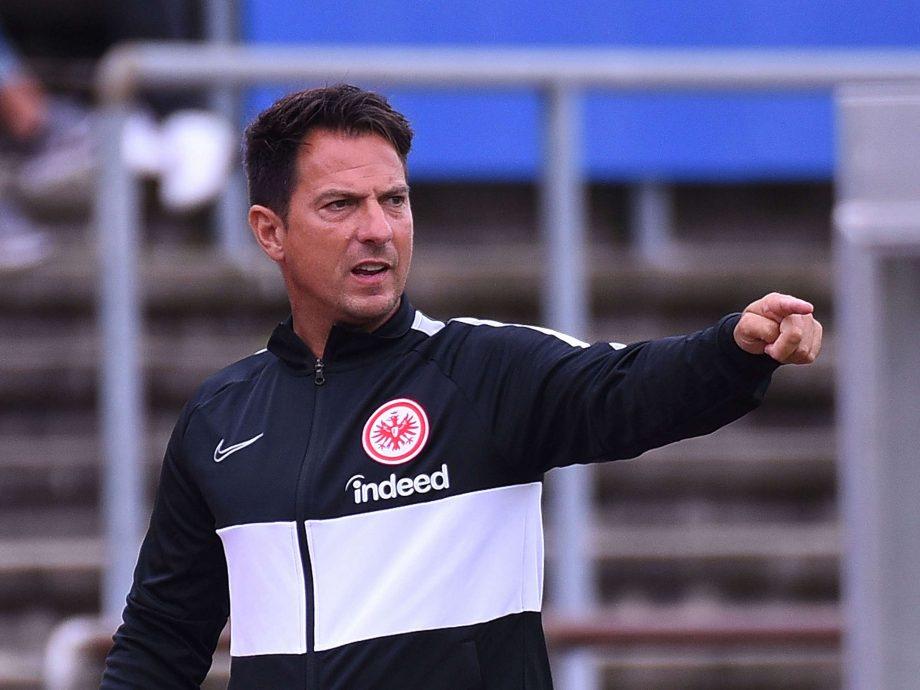 Marco Pezzaiuoli in his time at Eintracht Frankfurt
