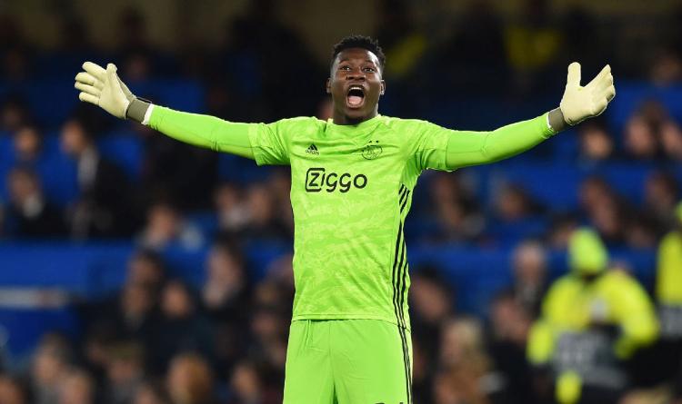 Andre Onana, the goalkeeper of Ajax