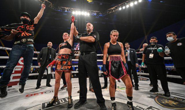 Hart celebrates victory