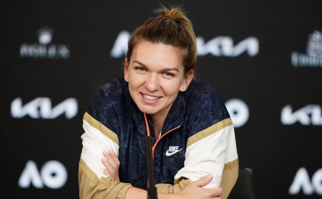 Simona Halep during her interview