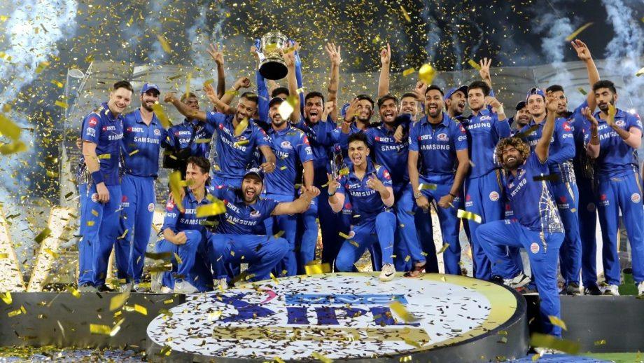 Mumbai Indians celebrating IPL 2020 win