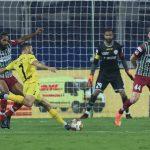 Hugo Boumous takes a shot on goal