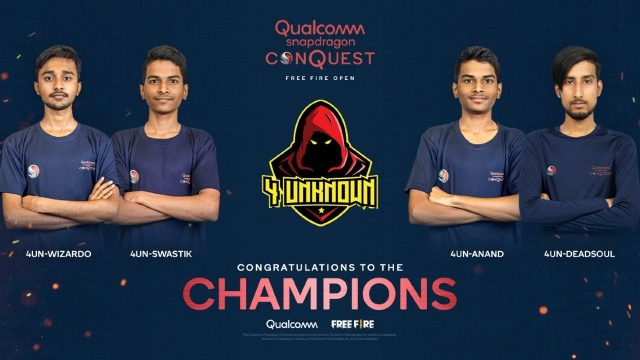 4 Unknown becomes the champions of the Snapdragon Conquest