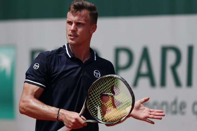 Marton Fucsovics during one of his matches