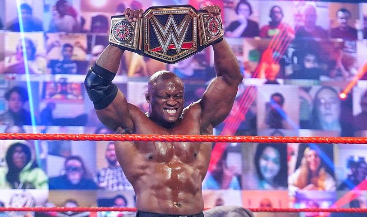 lashley won wwe title