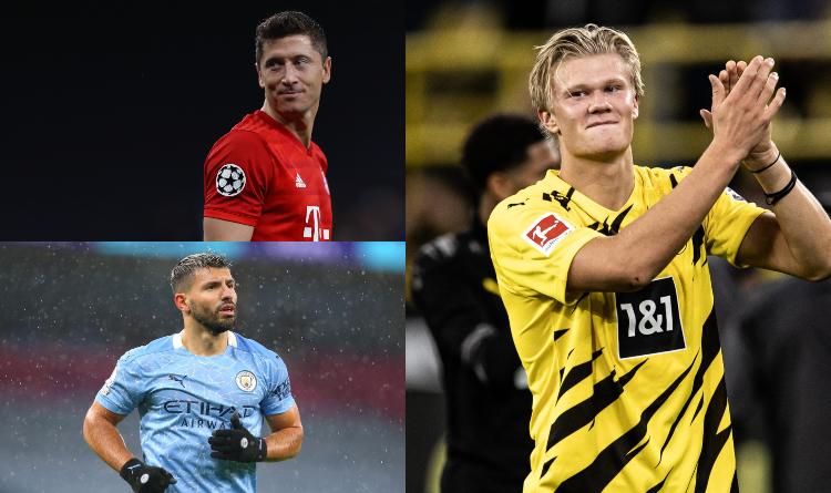 Lewandowski, Aguero, Haaland