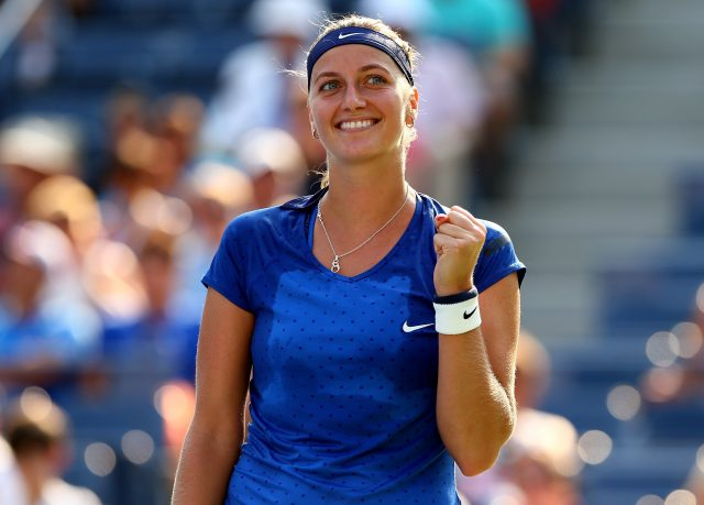 Petra Kvitova during one of her matches