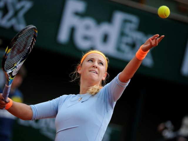 Victoria Azarenka during one of her matches