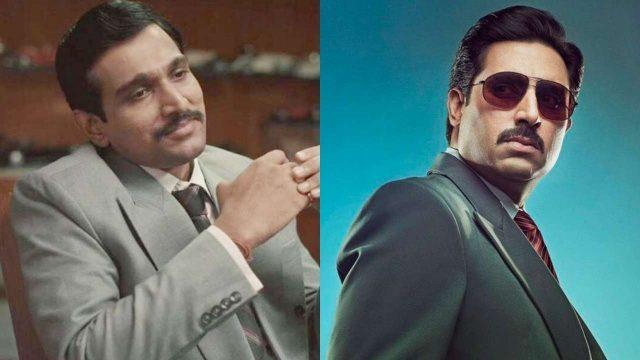 "Prateek Gandhi in ""Scam 1992"" & Abhishek Bachchan"