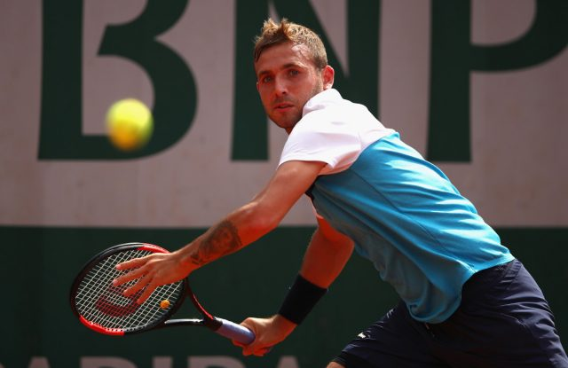 Dan Evans during matches