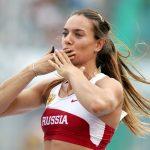 Yelena Isinbayeva at the competition