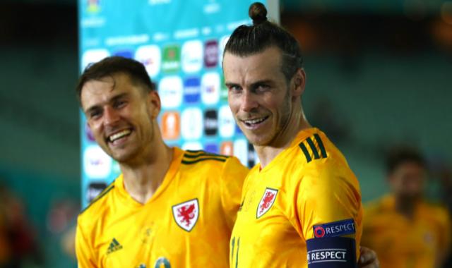 Aaron Ramsey and #11 Gareth Bale