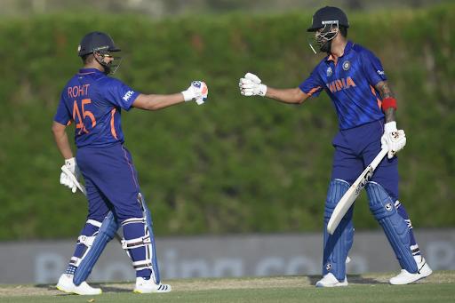 Rohit Sharma (left) and KL Rahul